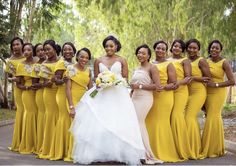 Weddings Discover Yellow bridesmaids dresses for the win! Yellow Bridesmaids Wedding Bridesmaid Dresses Brides And Bridesmaids African Bridesmaid Dresses Wedding Poses Wedding Attire Wedding Ideas Yellow Wedding Wedding Colors Yellow Wedding, Wedding Colors, Wedding Attire, Wedding Dresses, Yellow Bridesmaid Dresses, Mermaid Bridesmaid Dresses, African Wedding Dress, Herren Outfit, Wedding Story