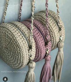 Diy Crochet Bag, Crochet Bag Tutorials, Crochet Yarn, Crochet Flowers, Crochet Stitches, Crochet Projects, Crochet Designs, Crochet Patterns, Crochet Keychain Pattern