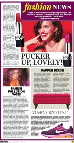 Thank you Mail Today for the lovely feature! Everyone head to gulmoharlane.com to choose some 'dapper decor' products for your #home  http://www.gulmoharlane.com/products/elma-tufted-storage-bench