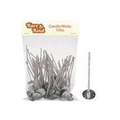 Candle Wicks for Candle Making - 100 Pieces - Coated With Natural Soy Wax, Low Smoke - Cotton Threads Woven with Paper - Contains No Lead, Zinc or Other Metals - Ready to Use * For more information, visit image link.