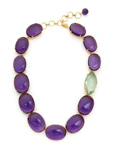 bounkit amethyst & fluorite necklace
