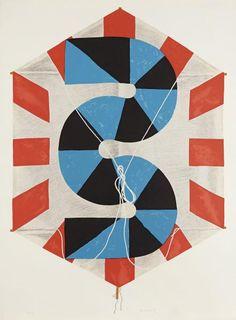 Kumi Sugaï (japonais, 1919-1996) - Le Cerf-volant. 1991. Lithographie. 540x770.[...], Estampes Anciennes et Modernes - 2ème Partie à Ader | Ader
