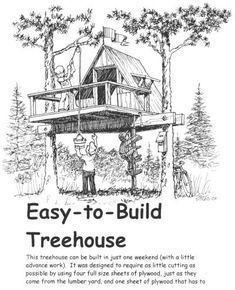 Tree House Sketch Design #Treehouse Pinned by www.modlar