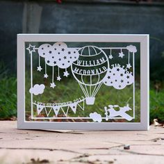 Personalised New Baby Papercut with free UK by iMakeUK