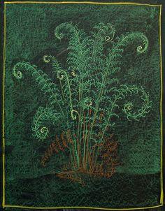 Waldorf ~ 5th grade ~ Botany ~ Ferns ~ chalkboard drawing