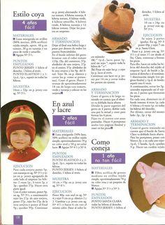 Ajuar Del Bebê N° 10-Revista Tricô Para Bebês Knitting And Crocheting, Tricot, Spinning, Blue Nails
