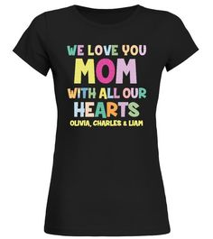 Custom Toddler T-Shirt Pink Heart Black Text Love Nerdy Mommy Mom Mothers Cotton