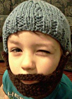 Kid's bearded beanie