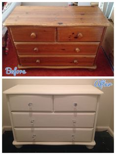 The Homemade Wife - Upcycled solid pine chest of drawers. thehomemadewife.wordpress.com