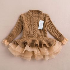 Online Cheap 2015 Autumn Winter Girls Knit Sweater Dresses Baby Girl Tulle Lace Tutu Winter Jumper Pullover Dress Princess Children Girls' Sweaters By Onlinetopshop Dhgate. Kids Outfits Girls, Baby Outfits, Girls Dresses, Kids Girls, Baby Girls, Baby Boy, Infant Baby Girl Clothes, Adorable Baby Clothes, Modern Baby Clothes