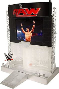 WWE Electronic Ultimate Entrance Stage Playset (Discontinued by manufacturer) Details can be found by clicking on the image. (This is an affiliate link) Wwe Coloring Pages, Wwe Bedroom, Wwe Entrance, Figuras Wwe, Bedroom Door Handles, Wwe Birthday, Wwe Seth Rollins, Hall Interior Design, Wwe Party