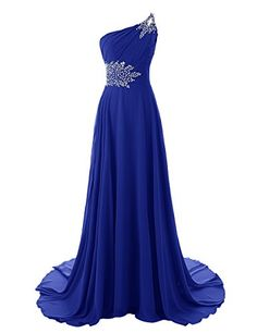 Diyouth One Shoulder Beaded Long Mermaid Bridesmaid Dresses with Train Royal Blue Size 14 Diyouth http://www.amazon.com/dp/B00MM2UL9E/ref=cm_sw_r_pi_dp_0cgivb13Z8GKX