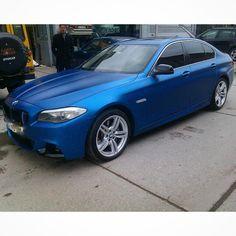 BMW F 10 mat night blue folyo kaplandi. (0212) 286 48 43 www.autovizyon.com