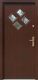 Drzwi zewnętrzne nowoczesne model 630,7 w kolorze orzech ciemny