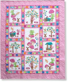 """Everyone loves Fairy Tales at bedtime!!! """"Fairy Tales"""" is a BEAUTIFUL quilt for little (and big) girls!  We offer it Pre-fused and LASER CUT!!! Visit www.stitchinheavenlaser.com for wholesale information."""