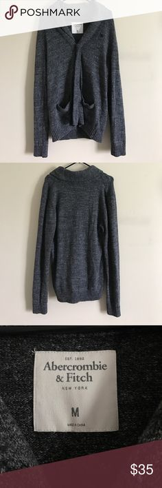 Abercrombie & Fitch Men's Cardigan Dark gray cardigan in great condition! Only worn like 5 times! Abercrombie & Fitch Sweaters Cardigan
