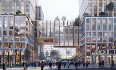 The concept for the EU Commission – Brussels Urban Landscape, Landscape Design, Public Space Design, Public Spaces, Space Architecture, Architecture Diagrams, Architecture Portfolio, Retail Architecture, Commercial Street