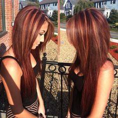 Dark Brown Hair with Caramel Highlights and Lowlights   hair color ombre hair color great hair color hair color idea fall hair ...