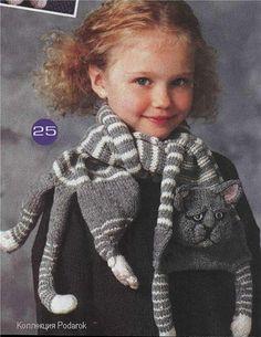 mas animales para las bufandas , que les parece este gato