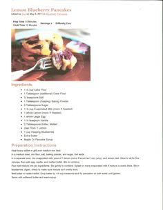 lemon blueberry pancake recipe (pioneer woman)