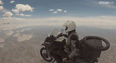 Here's an awesome video from Speed Society that shows a motorcycle riding across the world's largest salt flat, the Salar de Uyuni in Bolivia. The ground basically mirrors the sky which makes it look like the motorcycle is just gunning it through the clouds. Not a bad way to spend a day.