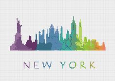 BOGO Cross Stitch Pattern New York City di ZGCROSSSTITCHPATTERN