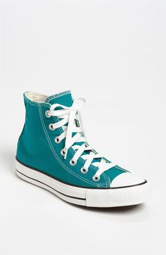 Converse Chuck Taylor® High Top Sneaker (Women) available at #Nordstrom in Teal