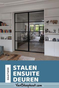 Living Room And Kitchen Design, Interior Design Living Room, Living Room Designs, Deur Ensuite, Pocket Doors, Steel Doors, Interior Design Tips, Sliding Doors, Sweet Home