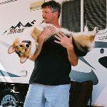 Real Men Love Corgis: Angus and and Dad Lenny! #corgi