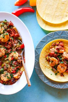 Healthy Dairy Free, Gluten Free Meal Plan Recipes. Gluten Free Crock Pot Fire Roasted Shrimp Tacos! We love making crock pot tacos. This recipe requires little prep, but produces tons of flavor and nutrients! Great for busy days and easy dinners!