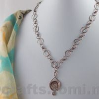 Swirly copper necklace - sold