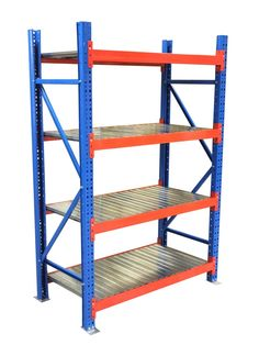 #Racking #longspanracking  #storageshelving - This quality storage racking is available in various heights and lengths.  Easy to install as there are no nuts or bolts - a long lasting durable racking system that is perfect for warehouse storage, garage storage racks, stock room storage and much more.  Quality racking at low cost.