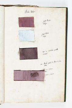 Marie Antoinette's Wardrobe Book from 1782