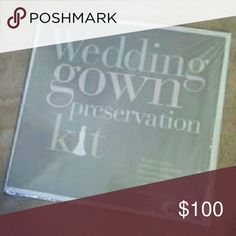 Weddig gown preservation kit New never opened never used smoke and animal free home Davids bridal Other