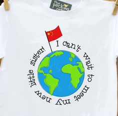Adoption big sister/brother shirt- adorabe for that new big brother/sister t-shirt. $16.50, via Etsy.