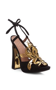Leather Sandals with Gold Flower by Marni - Moda Operandi...BozBuys Budget Buyers Best Brands! ejewelry & accessories...online shopping http://www.BozBuys.com