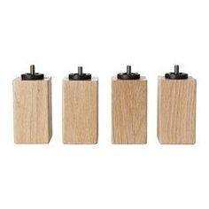 IKEA - BURFJORD, Ben, 10 cm, , Fremstillet af massivt træ, der er et holdbart og varmt naturmateriale.