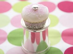 Sparkling Baby Cakes : These bite-sized cupcakes are perfect for a festive dessert buffet. Prosecco adds an adult-friendly twist to the icing, while sparkling sanding sugar ensures these cupcakes are ready to celebrate. Sparkle Cupcakes, Love Cupcakes, Easter Cupcakes, Heart Cupcakes, Beautiful Cupcakes, Vanilla Cupcakes, Mini Muffins, Mini Cakes, Cupcake Cakes
