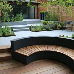 Image result for curved outdoor bench  garden seating