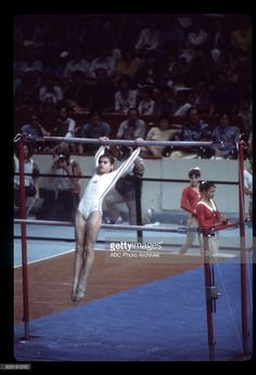 OLYMPICS - Women's Gymnastics - The 1976 Summer Olympic Games aired on the ABC Television Network from July 17 to August 1, 1976. Shoot Date: July 18, 1976. NADIA COMANECI (ROMANIA), UNEVEN Gymnastics Posters, Gymnastics Pictures, Olympic Gymnastics, Olympic Sports, Gymnastics Girls, Olympic Games, Nadia Comaneci Perfect 10, Gym Leotards, Gymnastics Photography