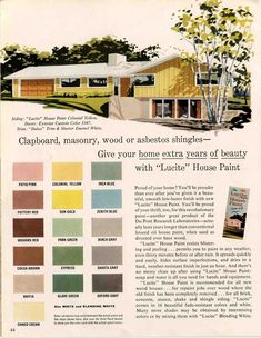 1960S Houses Amusing Exterior Colors For 1960 Houses  Retro Renovation Exterior Design Decoration