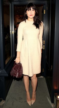 Daisy Lowe managed to tear herself away from her new man as she attended the launch of new fashion store J&M Davidson in London on Wednesday night. Star Fashion, Fashion Beauty, Women's Fashion, Daisy Lowe, Beige Dresses, Dress Skirt, Skater Dress, Girly Girl, Fitness Fashion
