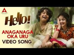 Watch & Enjoy Anaganaga Oka Uru Full Video Song, Starring Directed by Music Composed By Pro. Hello Movie, Audio Songs Free Download, Download Free Movies Online, Download Video, Film Song, Movie Songs, Hello Video, Cute Songs