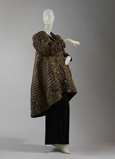 Evening coat Designer: Madame Grès (Alix Barton) (French, Paris 1903–1993 Var region) 1935 Metal thread