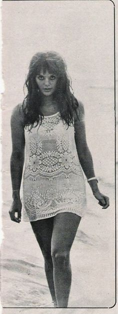 """1960s Cult / Style Icon: Tina Aumont sometimes referred to as Maria Christina """"Tina"""" Aumont or Tina Marquand 