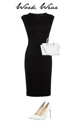 """""""Work Wear"""" by charlottealexanderx ❤ liked on Polyvore featuring Karen Millen, River Island and MICHAEL Michael Kors"""