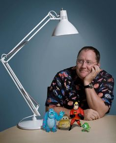 Pixar's John Lasseter by Matt Hoyle. Amazing guy who refused to be told that it couldn't be done.