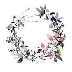 pretty watercolor wreath