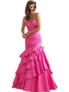 formal dress - not much on pink, but adore the cut of this dress.