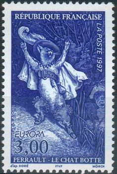 Puss in Boots | French postage stamp,1997 | art by Gustave Doré